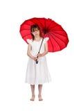Red umbrella stock photos