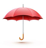 Red umbrella. Vector illustration of classic elegant opened red umbrella isolated on white background Royalty Free Stock Photos