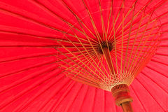Red umbrella. China is a beautiful shade of red Stock Images