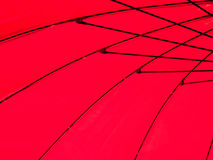 Red umbrella. Red color pattern of an umbrella Stock Images