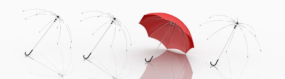 Red Umbrella Royalty Free Stock Photo