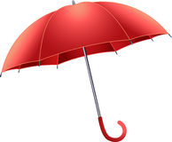 Red umbrella. On white background Stock Images