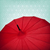 Red Umbrella Background Stock Photography