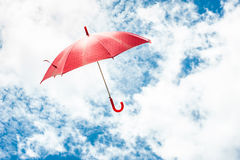 Red Umbrella with Blue Sky Royalty Free Stock Image