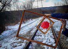 Red umbrella. Creativity at work, good ideas Stock Photos