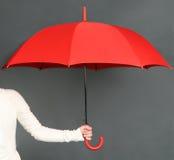 Red umbrella Stock Image
