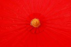 Red umbrella handmade. Royalty Free Stock Images