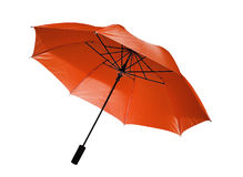 Red umbrella  isolated Stock Images