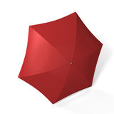 Red umbrella isolated over white Stock Photo