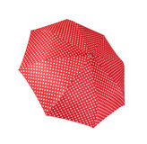 Red umbrella isolated on white background Royalty Free Stock Photo
