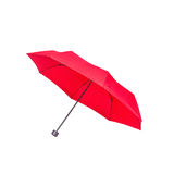 Red umbrella isolated on white Royalty Free Stock Photo
