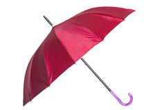 Red umbrella. Isolated on white background Royalty Free Stock Photography