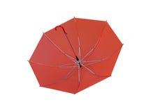 Red Umbrella isolated on white background. Royalty Free Stock Image