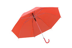 Red Umbrella isolated on white background. Royalty Free Stock Photography