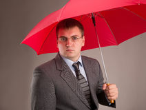 Red umbrella Stock Photography