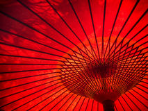 Red umbrella patterns Royalty Free Stock Photo