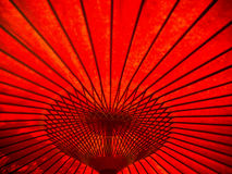 Red umbrella patterns Royalty Free Stock Images