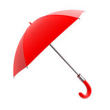 Red umbrella for rain weather Stock Photos