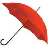 The red umbrella represented Royalty Free Stock Photo