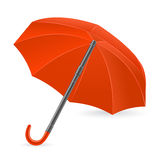 The red umbrella represented on a white background Stock Photography