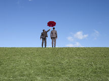 Red umbrella shield Royalty Free Stock Photos