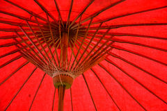 Red umbrella structure pattern. Closeup of red handmade umbrella structure pattern Stock Photography