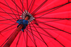 Red umbrella texture Royalty Free Stock Photography