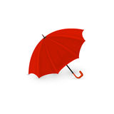 Red umbrella on white background. Red umbrella isolated on a white background, illustration Stock Photo