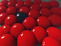 Red umbrellas Royalty Free Stock Image
