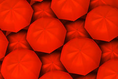 Red umbrellas background Royalty Free Stock Photography