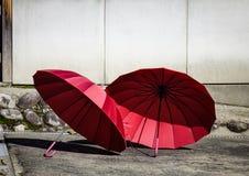 Red umbrellas Royalty Free Stock Photo