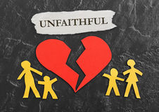 Red Unfaithful heart Royalty Free Stock Photography