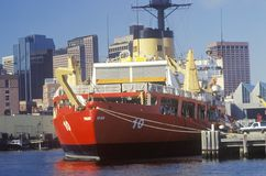 Red United States Coast Guard Ship Royalty Free Stock Photography
