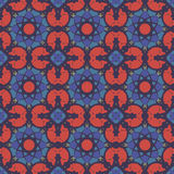 Red universal vector seamless patterns, tiling. Geometric ornaments. Stock Photography