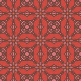 Red universal vector seamless patterns, tiling. Geometric ornaments. Stock Images