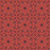 Red universal vector seamless patterns, tiling. Geometric ornaments. Royalty Free Stock Photos