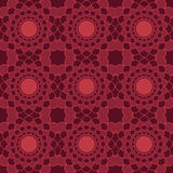 Red universal vector seamless patterns, tiling. Geometric ornaments. Stock Photos