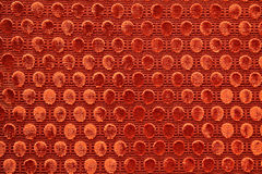 Red upholstery fabric. Vintage red chair upholstery fabric Stock Photo
