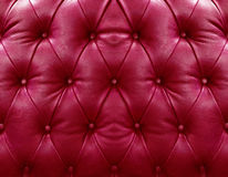 Red upholstery leather Stock Photo
