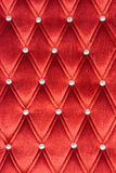 Red upholstery Stock Photo