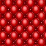 Red upholstery texture Stock Images