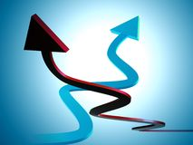 Red upward arrow icon Stock Photos