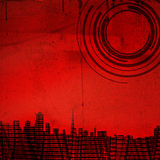 Red urban background Royalty Free Stock Photos
