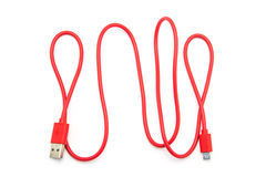 Free Red USB Cable Plug Royalty Free Stock Image - 65028996