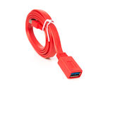 Red usb cable on white background Royalty Free Stock Photography