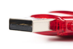 Red usb flash drive Stock Image