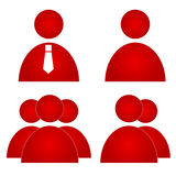 Red users icons Stock Photography