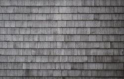 Red ut Gray Shakes Wall Royaltyfri Fotografi