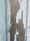 Red ut målade blått för trä en gång royaltyfri bild