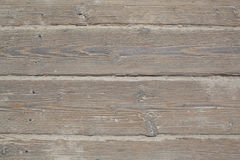 Red ut Sandy Wooden Boardwalk Slats Royaltyfria Foton